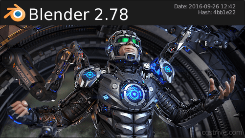 blender 2.78 splash screen