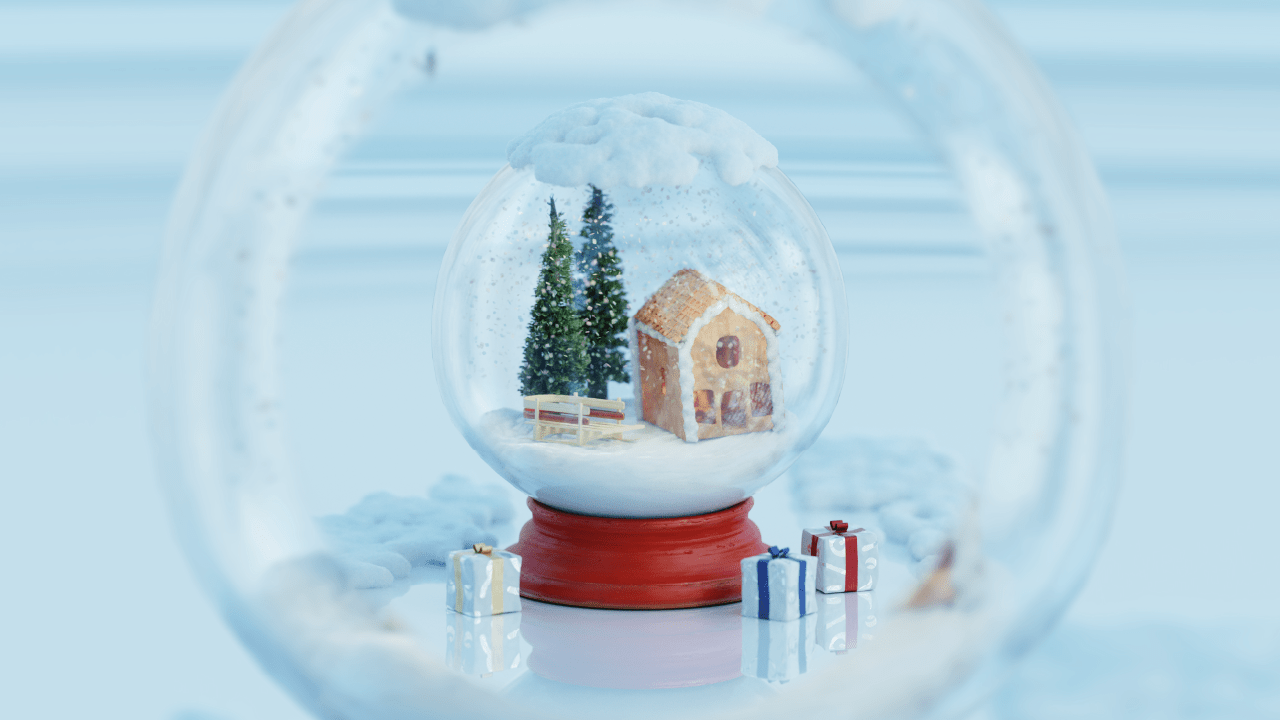 Render Xmas ball, consegna del contest di natale, Blenderstuffy