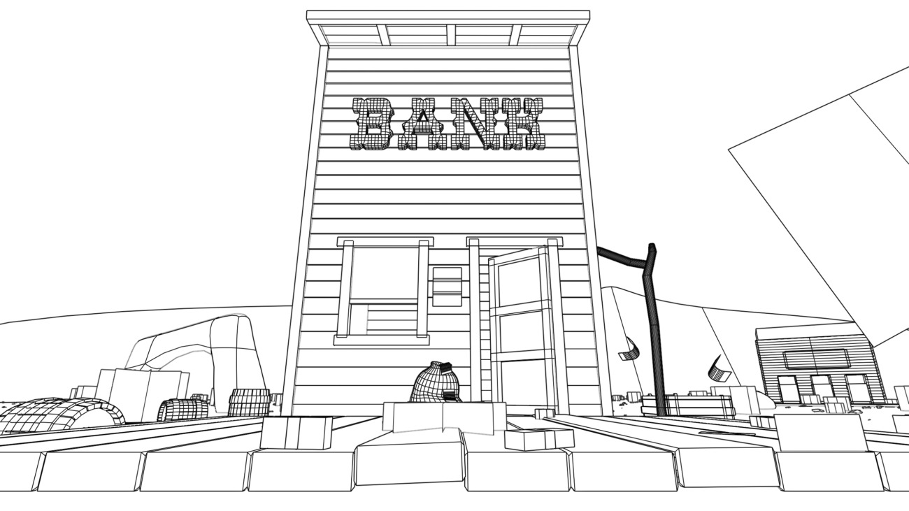 Bank wireframe