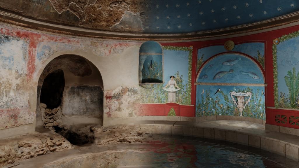 Hypothesis of digital reconstruction of the Frigidarium frescoes