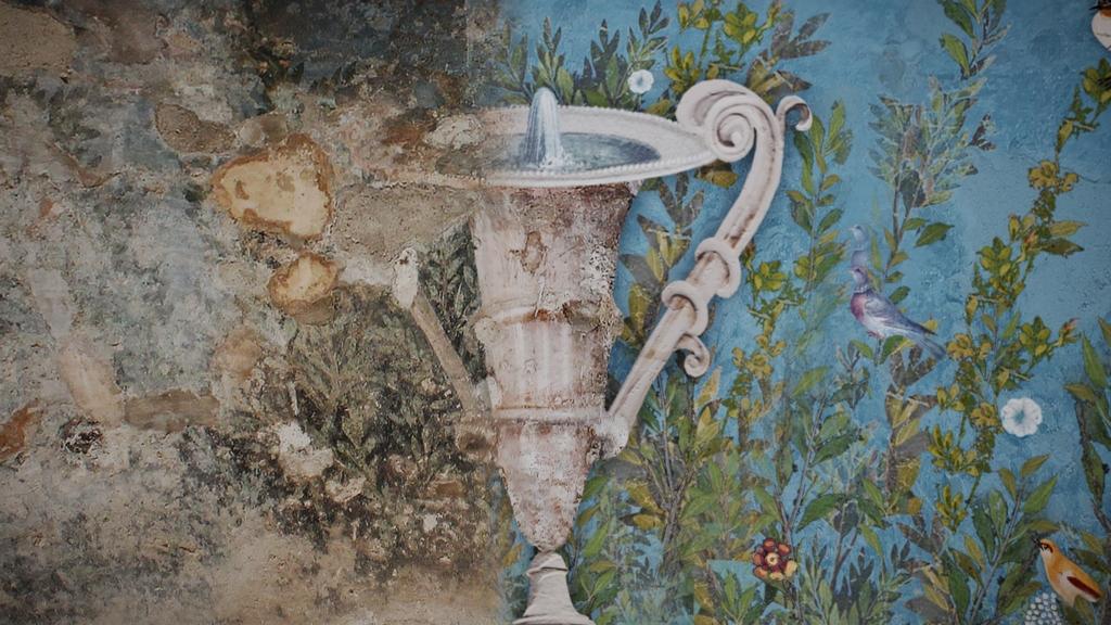 Hypothesis of digital reconstruction of the Frigidarium frescoes (2)