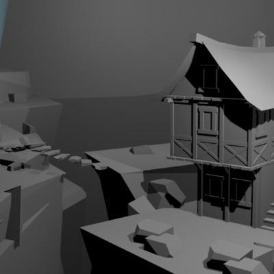 villaggio-medioevale-modellazione