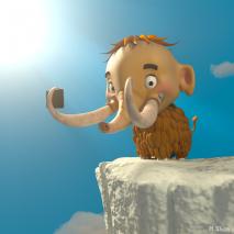 baby-mammoth-selfie
