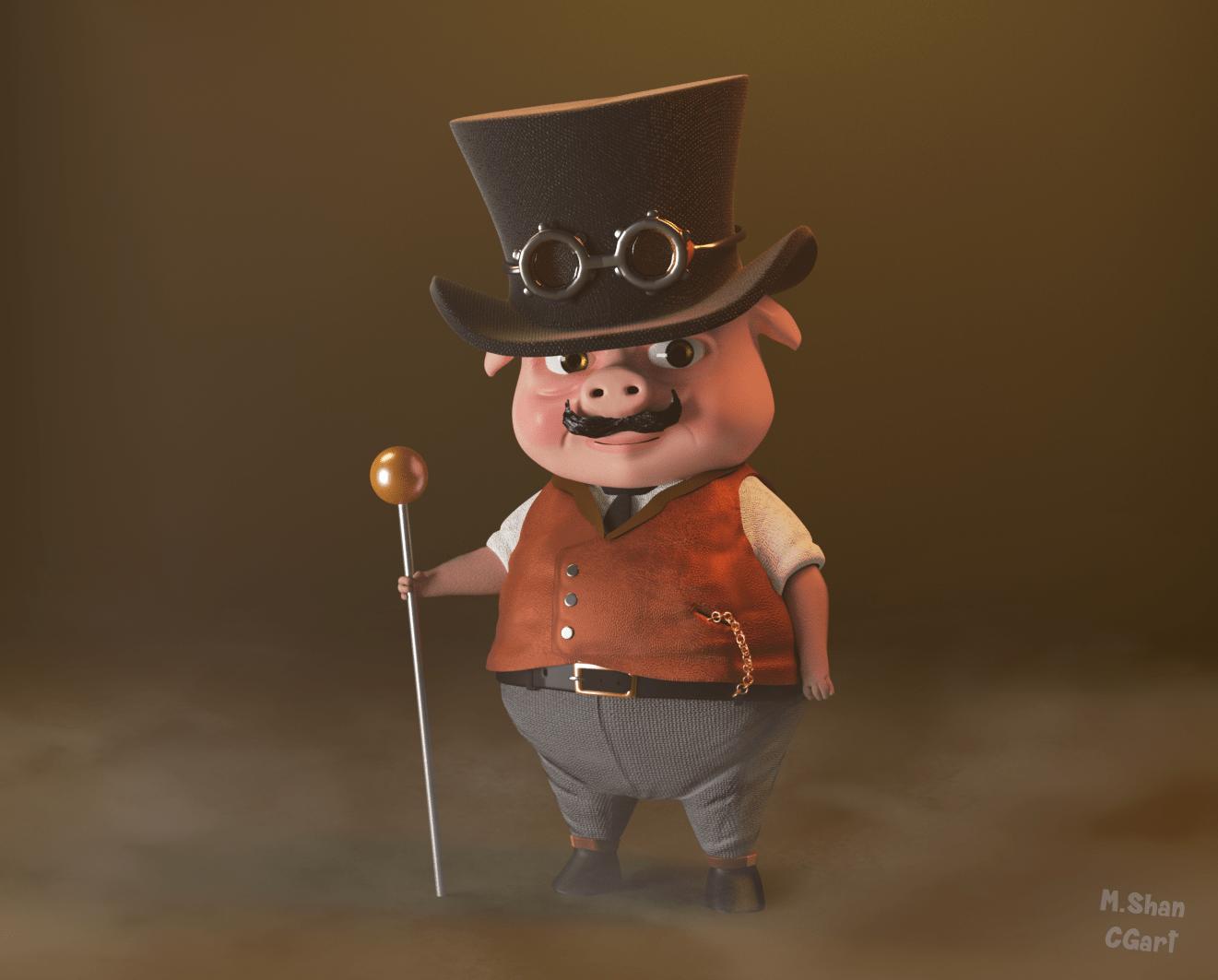 steampunk-pig
