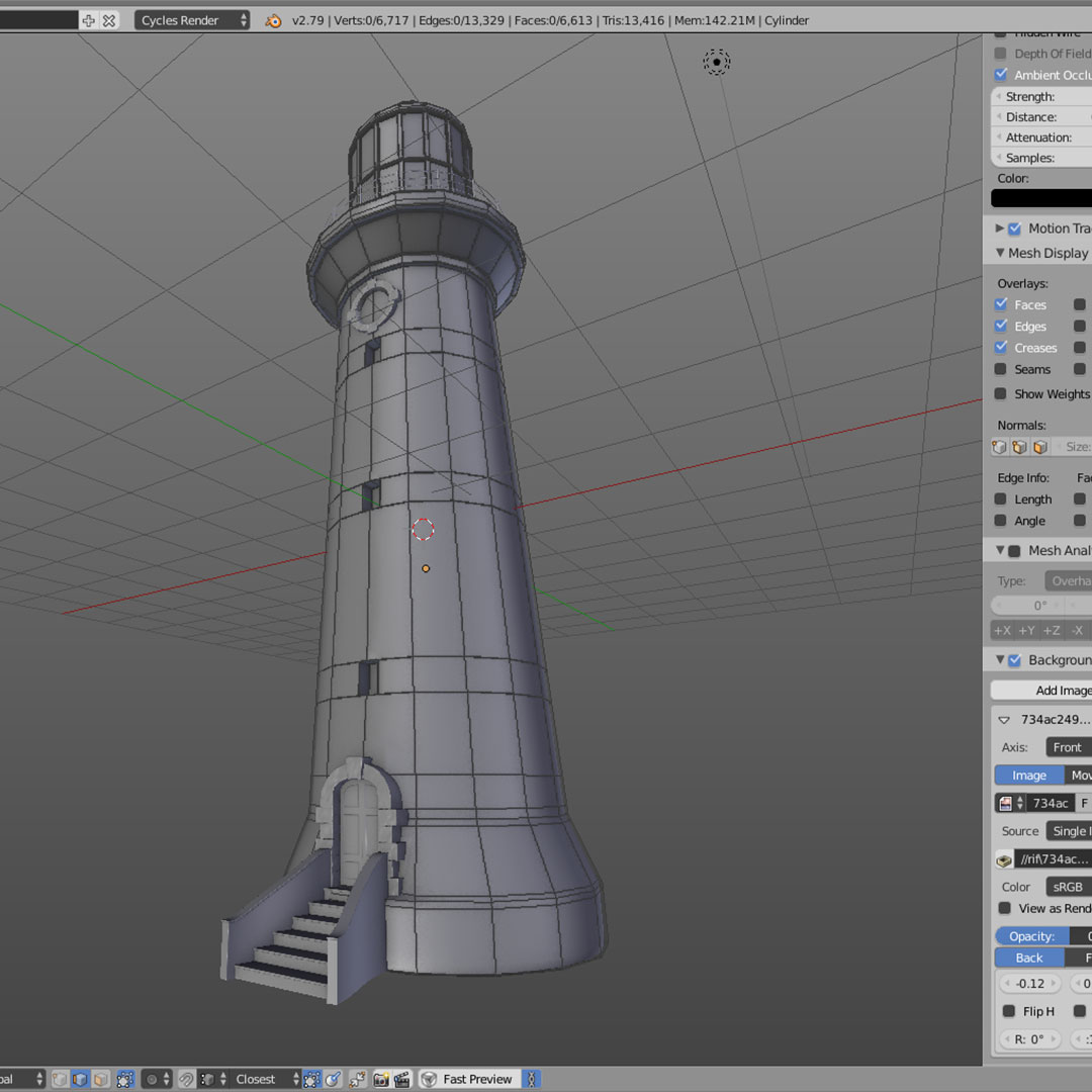 lighthouse-lowpoly-2