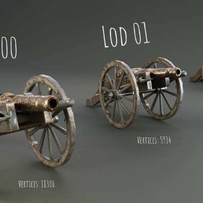 cannon-lowpoly