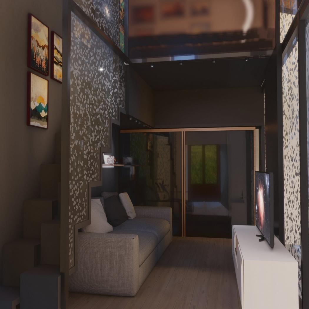 archviz livingroom casa colonica