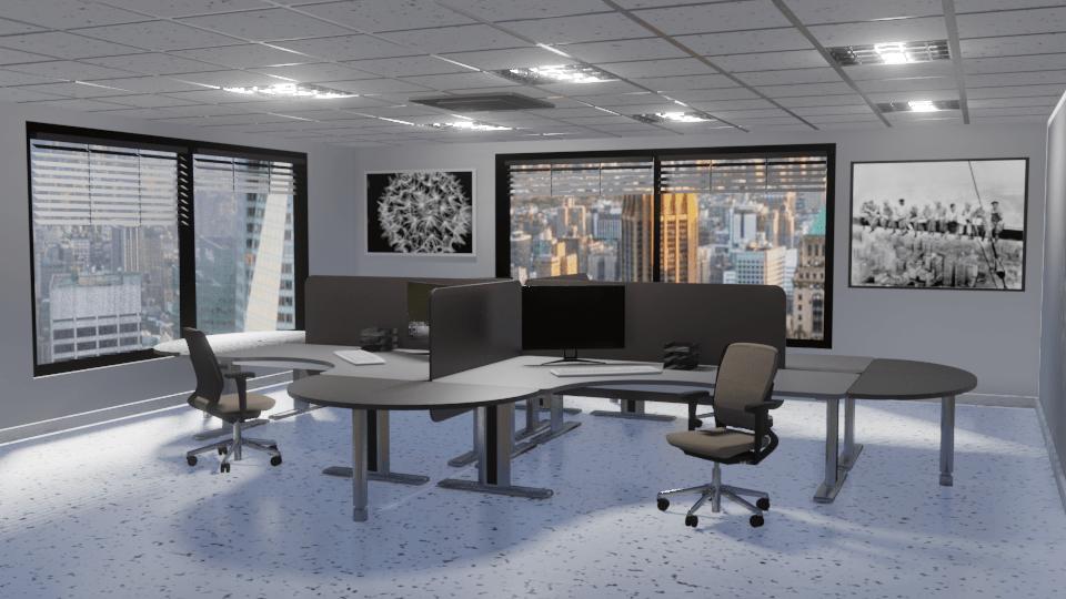 Ambientazione Ufficio con Evee