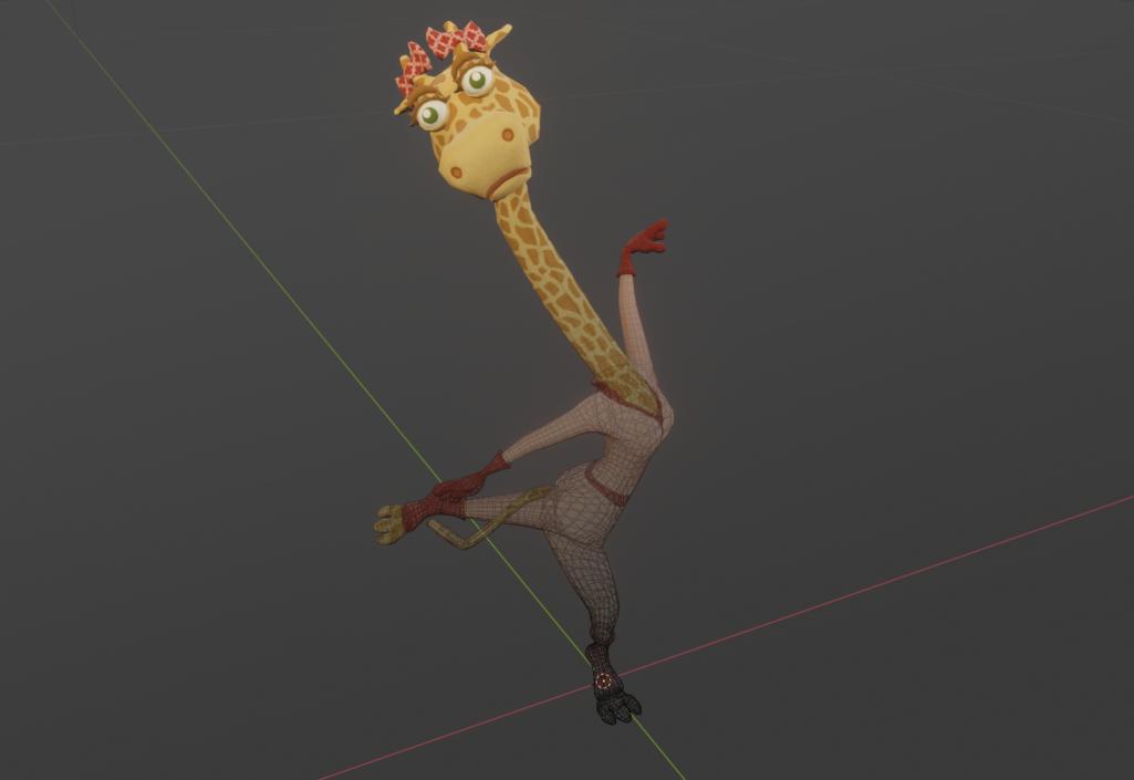 Giraffa pose2 b
