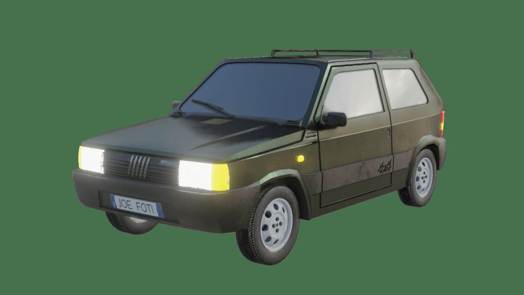 Fiat Panda 4x4 Render 01