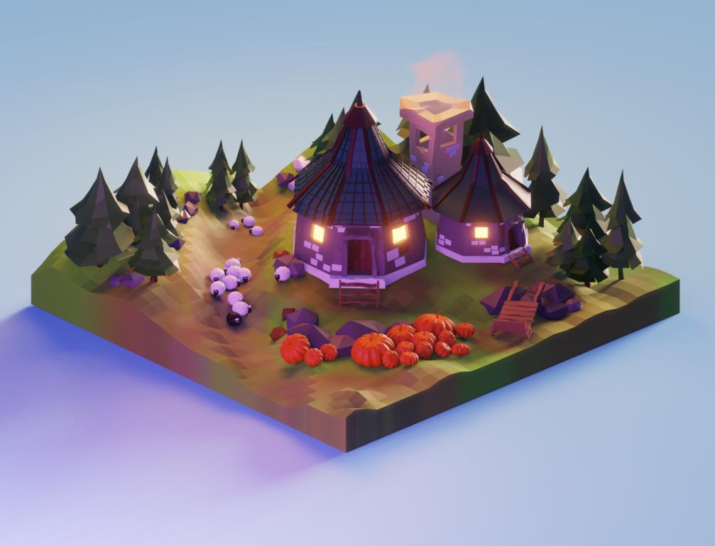 Village lowpoly