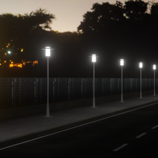 render-strada-al-tramonto