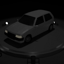 fiat-uno-low-poly