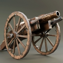 cannon-low-poly