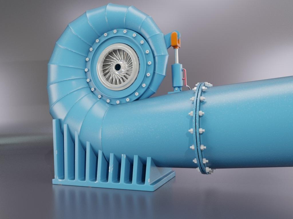 Turbina Francis con Girante in vista - https://thegrendizerfanpro.wixsite.com/grendizerfanproject