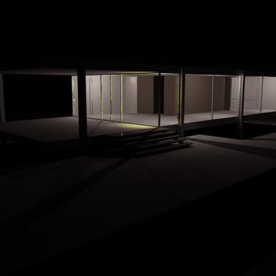 casa-farnsworth-night