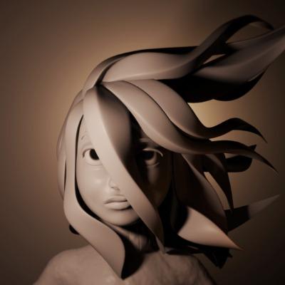 sculptjannuary_uncontrollable-hair_day06
